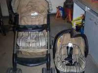 Baby items. Stroller/Car seat combo $25.00, Green