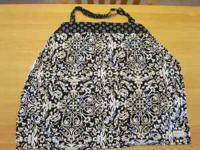 Black and white nursing cover - $8 Brand new, only used