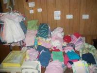 WE HAVE BABY CLOTHES BOY AND GIRL. GIRLS SIZES PREEMIE