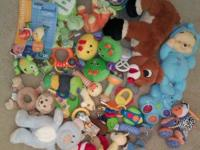 Large lot of infant toys $8 Newborn/Infant neck support