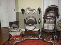 Graco Folding Stroller, Car Seat, Swing, and Pack n