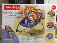 Fisher Price Infant to Toddler Rocker - EUC $15 Booster