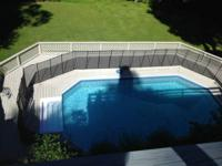 We have a Baby Loc removable pool fence in outstanding