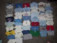 All onezies are nb sizes fairly new, my son didn't wear