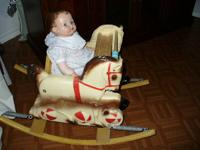ADORABLE REAL BABY OR DOLL BOUNCER ROCKER  I PURCHASED