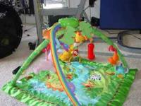 Baby playmat with toys asking $25.00 can be reached at
