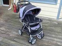 Graco Baby Stroller Folding Black/Gray With Canopy Good
