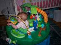 exersaucer thats jungled it is clean and omes with