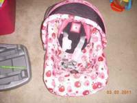 have a infant carseat for a girl pretty much new asking
