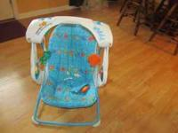 Fisher Price baby portable swing with fish theme. Very