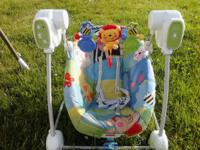 2 gently used child swings. Fisher cost portable 5