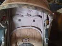 Baby bed and matress, 2 Highchairs, potty chair.
