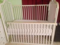 Baby crib, gently used, very comfortable and easy to