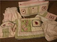 Have a 6 piece crib bedding set like new comes with