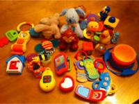 Baby toy lot, lots of good stuff. They were bought for