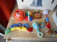 Rattles and Lego table/ play table.  Cash only