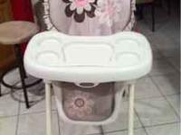 Great high chair lightly used. No stains. Cover is