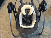 Baby Trend portable swing has 6 speeds, music