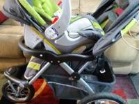 Baby trend running stroller and matching car seat. Like