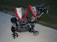 Baby Trend Sit N Stand Plus Double Stroller. Lightly