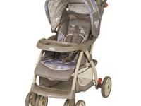 The Baby Trend Stride Sport Stroller in Wisteria Lane
