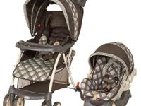 The Baby Trend Venture Travel System Stroller in Monkey