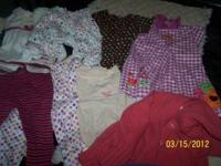 BABY GIRLS CLOTHING- MOST WASHED AND NEVER WORN!