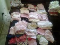 I HAVE LOTS OF BABY GIRL CLOTHES AND SHOES FROM SIZES