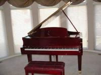 Beautiful Mahogany C173 Wurlitzer Baby Grand Piano.