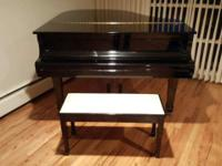 "Yamaha Baby Grand Piano 5'3"" with beautifully polished"