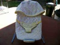 Nice baby carrier/seat with built-in cloth hood to