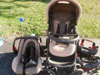 Stroller car seat 2 bases 50.00 OBO exersaucer 20.00