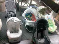 Car seats, carriers, bouncers, cribs, changing tables,