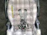 Pink infant car seat in like new condition asking