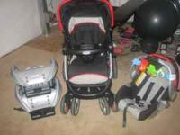 Stroller package with 2 bases, tropical bouncer, combi