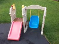 Little Tykes plastic swing set. $25 obo.