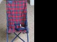 Baby Trend umbrella stroller plaid color, used, in very