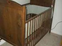 Hello i have for sale very clean Baby Wooden crib with