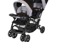 Like new baby trend sit and stand double stroller, used
