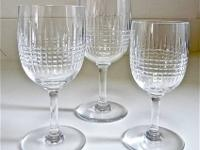 Collection of Baccarat crystal wine glasses Pattern: