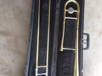Bach trombone and cushioned case for sale. Less costly