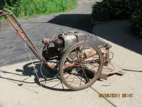 "I have an old ""bachtold"" type weed mower (see picture)"
