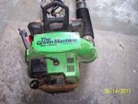 GREEN MACHINE back pack blower - Great Blower has a lot