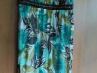 Brown/green print dress; JUNIOR size Medium; $8 Aqua