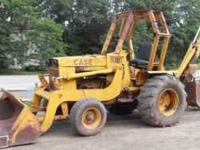 680 Case Backhoe, Repinned and bushed runs and operates