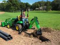 John Deere 2305 tractor backhoe 89 day plus Delivery &