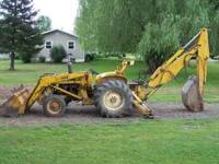 On Older International Backhoe 3414, Good Running, Good