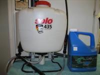 . Professional grade 5 gallon backpack sprayer, Solo,