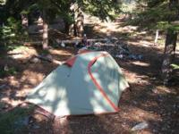 I purchased this tent last summer. It was used for 5