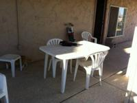8 chairs and a table - white - waterproof, good shape